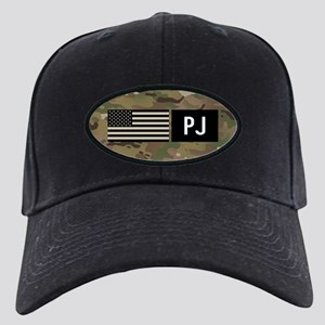 U.S. Air Force: PJ (Camo) Black Cap with Patch