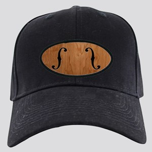 F-Holes Woodgrain Black Cap
