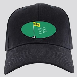 Golf Hole in One Black Cap