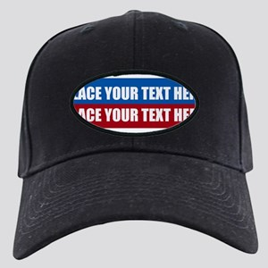 America Text Message Black Cap with Patch