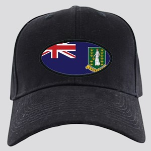 BVI Flag Black Cap