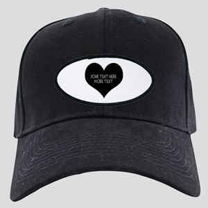 Black heart Baseball Hat