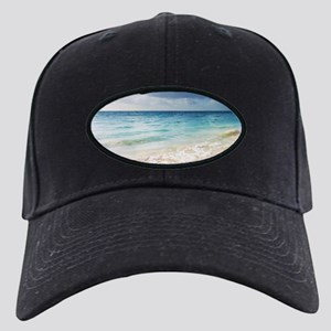 Beautiful Beach Black Cap with Patch