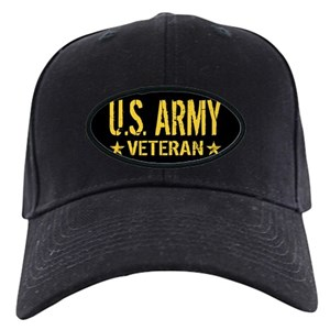 U S  Army: Veteran (Gold Stars) Black Cap