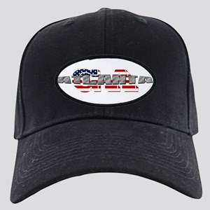 75fd4be3d Atlanta Georgia Black Cap With Patch - CafePress