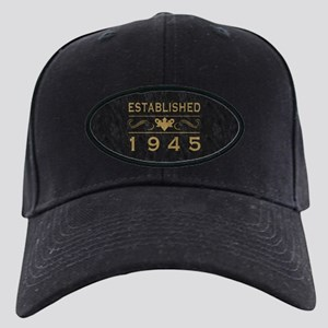 1945 Birth Year Black Cap