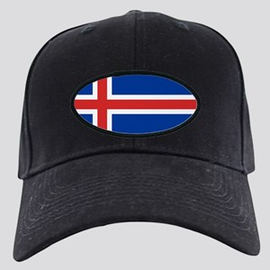 Flag of Iceland Black Cap