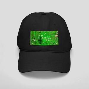 Circuit Board - Green Black Cap