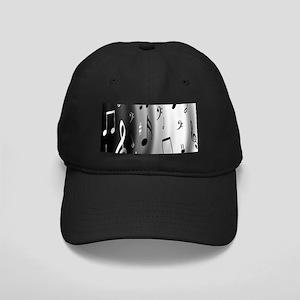 Music Notes Black Cap