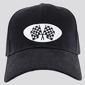 Chequered Flag Black Cap with Patch