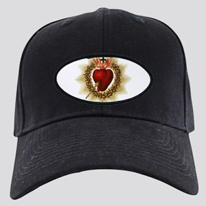 Sacred Heart Black Cap with Patch