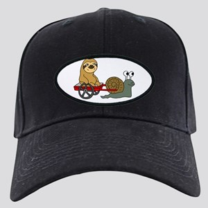 Snail Pulling Wagon with Sloth Black Cap