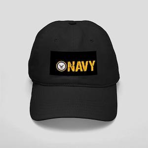 U.S. Navy: Navy (Black) Black Cap
