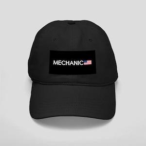 Mechanic: American Flag Black Cap