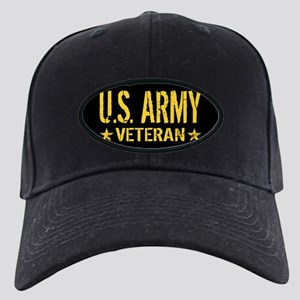 U.S. Army: Veteran (Gold Stars) Black Cap