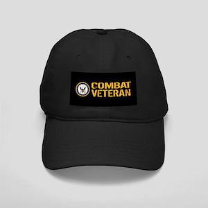 U.S. Navy: Combat Veteran (Black) Black Cap