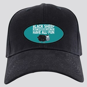 Black Sheep Black Cap with Patch