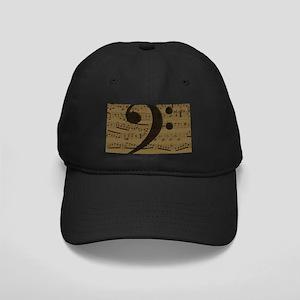 Musical Bass Clef sheet music Baseball Hat