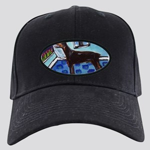 DOBERMAN PINSCHER art Black Cap