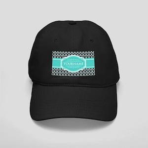 Personalized Horseshoes Pattern - Aqua N Black Cap