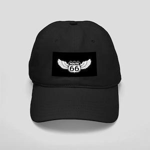 Winged Rte. 66 Black Cap