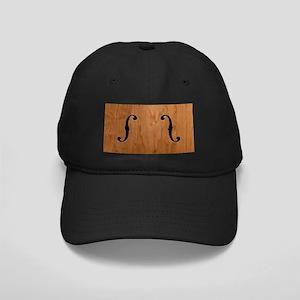 F-Holes Woodgrain Black Cap