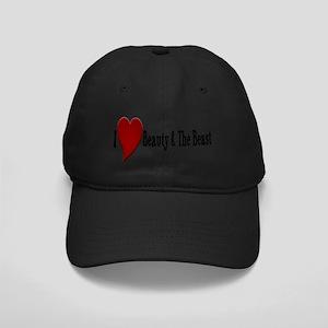 Beauty and The Beast Heart Design Black Cap