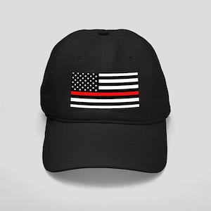 Firefighter: Black Flag & Red Line Black Cap