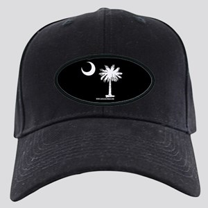SC Palmetto Moon State Flag Black Black Cap