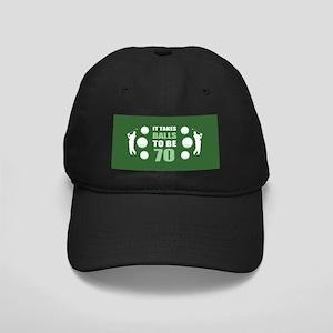 Funny Golf 70th Birthday Black Cap