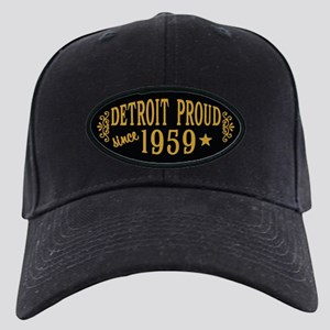 Detroit Proud Since 1959 Black Cap with Patch