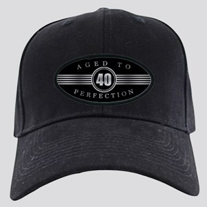 40th Aged To Perfection Black Cap