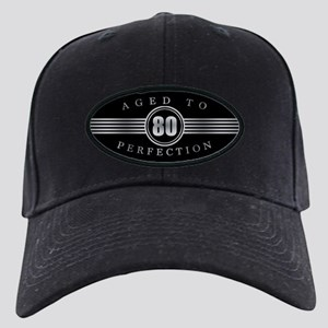 80th Aged To Perfection Black Cap