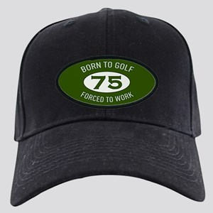 75th Birthday Golf Black Cap