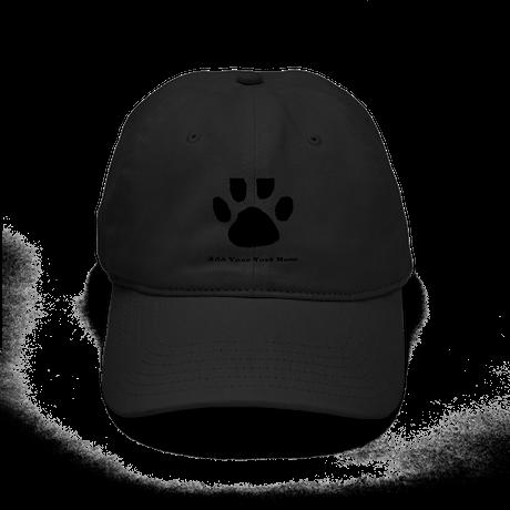 paw print template baseball hat by diy4