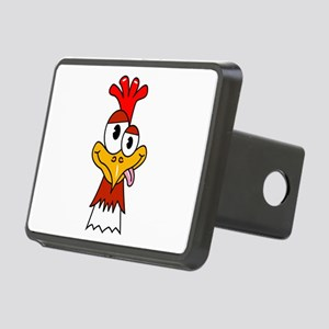 Crazy Chicken Head Rectangular Hitch Cover