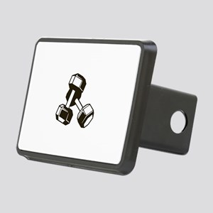 Fitness Dumbbells Rectangular Hitch Cover