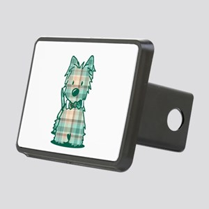 Plaid KiniArt Westie Bo Rectangular Hitch Cover