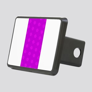 Pink Ribbon Purple October Rectangular Hitch Cover