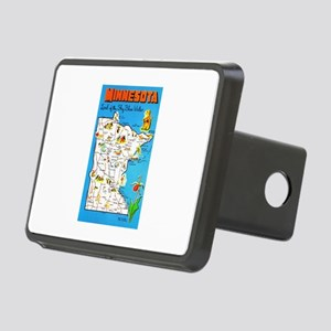 Minnesota Map Greetings Rectangular Hitch Cover
