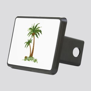 Twin Palm Tree Rectangular Hitch Cover