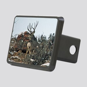 Mule deer bucks first snow Hitch Cover
