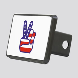 Spirit of '76 Peace Rectangular Hitch Cover