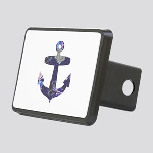 Floral anchor Rectangular Hitch Cover