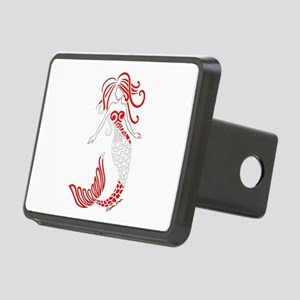 Tribal Scuba Flag Mermaid Rectangular Hitch Cover