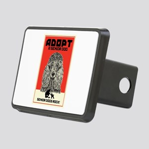 Senior Dogs Rock! Rectangular Hitch Cover