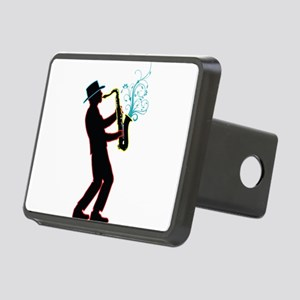 Saxophone Player Rectangular Hitch Cover