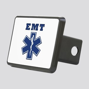 EMT Blue Star Of Life* Rectangular Hitch Cover