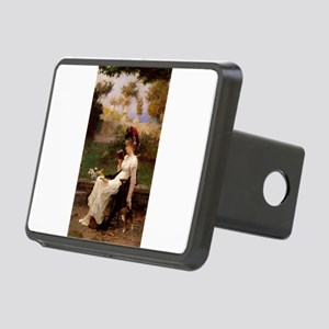 A Good Book and Your Kitty Rectangular Hitch Cover
