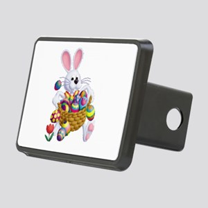 Easter Bunny With Basket Rectangular Hitch Cover